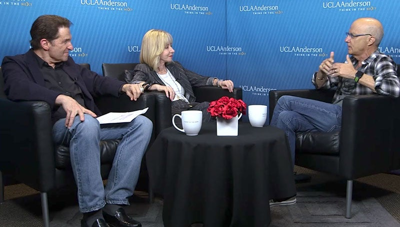 The Interscope co-founder shared his leadership insights with UCLA Anderson's Dean Judy Olian and Mandalay Entertainment CEO Peter Guber