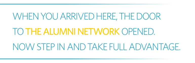 Welcome to the Alumni Network!