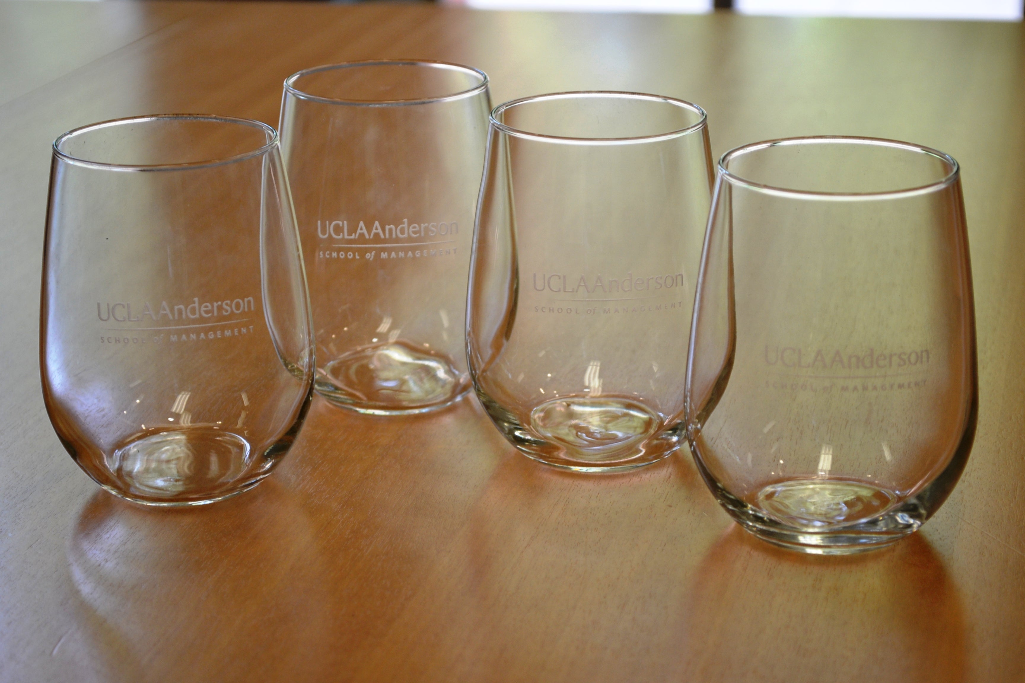 Stemless 17 oz white wine set of four