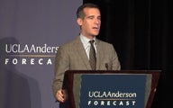 Los Angeles Mayor Eric Garcetti delivers the keynote address.