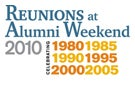 Reunions at Alumni Weekend 2010
