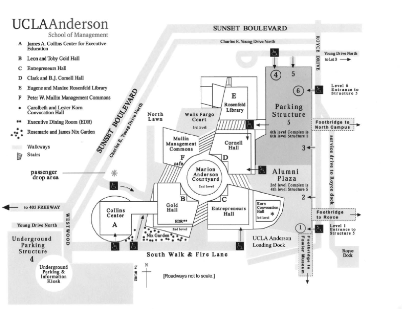 Map of UCLA Anderson