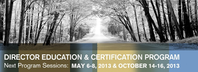 Director Education & Certification Program