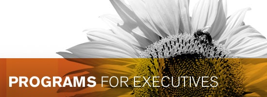 Programs for Executives Banner