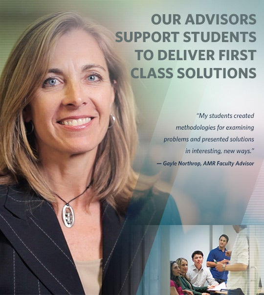 Our advisors support students to deliver first-class solutions