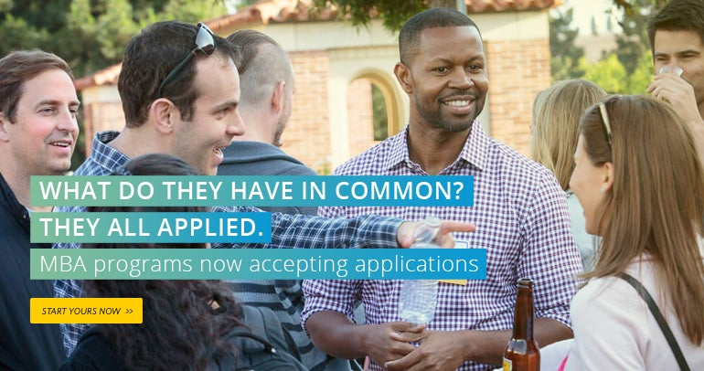 What do they have in common? They all applied. MBA programs now accepting applications.