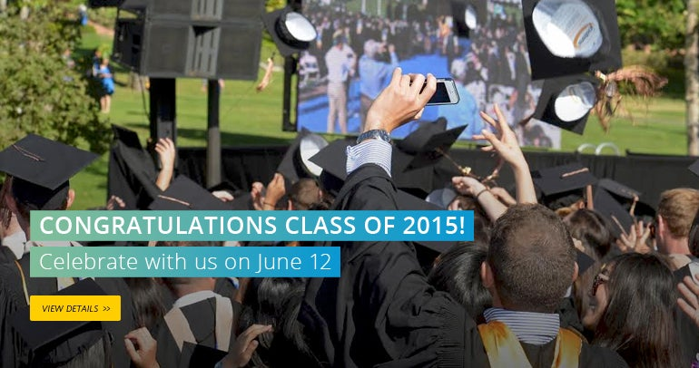 Congratulations Class of 2015! Celebrate with us on June 12