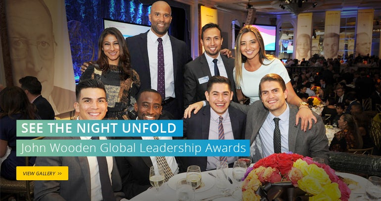 See The Night Unfold, View the John Wooden Global Leadership Awards Gallery